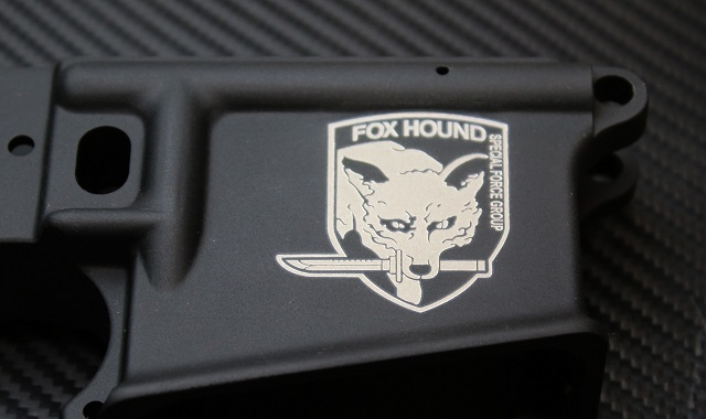Fox Hound Logo on AR15 Lower Receiver
