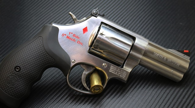 Armor Deep Engraved Revolver with Color Fill